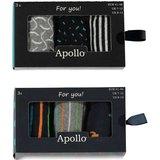 Apollo Heren Sokken Oranje / Blauw 20409_