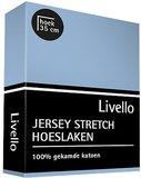 Livello Jersey Stretch Hoeslaken Pastel Blue 22401_