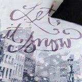 Beddinghouse Dekbedovertrek Let it Snow Black 14302_
