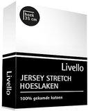 Livello Jersey Stretch Hoeslaken Wit_