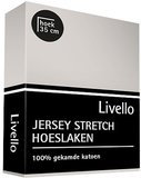 Livello Jersey Stretch Hoeslaken Lichtgrijs_
