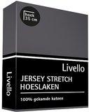 Livello Jersey Stretch Hoeslaken Donkergrijs_