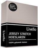 Livello Jersey Stretch Hoeslaken Stone_