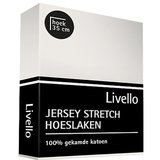 Livello Jersey Stretch Hoeslaken Offwhite_