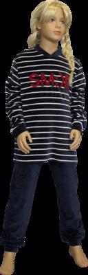 Lunatex Pyjama Blauw/Rood 5470   21321