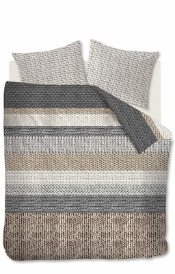 Beddinghouse Flanel Dekbedovertrek Valdemar Grey 21510