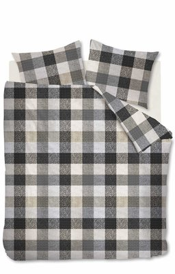 Beddinghouse Flanel Dekbedovertrek Beckett Grey 21508