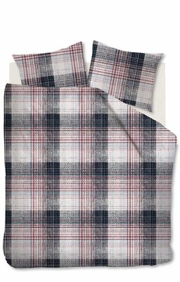 Beddinghouse Flanel Dekbedovertrek Filip Red 21634