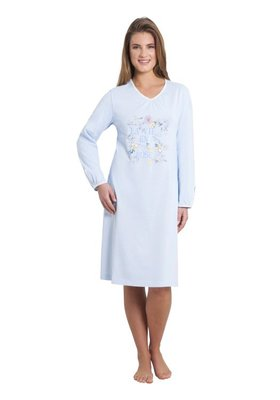 Hajo Klima Komfort Nachthemd Light Blue 45112 | 21629