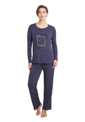 Hajo Pyjama Grey 45176 | 21442