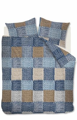 Ariadne At Home Dekbedovertrek Wool Shades Blue 21649