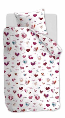 Beddinghouse Kids Dekbedovertrek Sweet Love Pink 21674