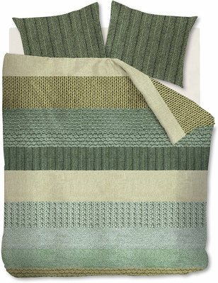 Beddinghouse Flanel Dekbedovertrek Evans Green 21670