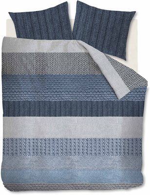 Beddinghouse Flanel Dekbedovertrek Evans Blue 21671