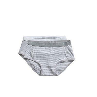 Ten Cate Girls Basic Brief 2-Pack Grey Stripe 31119 | 20912