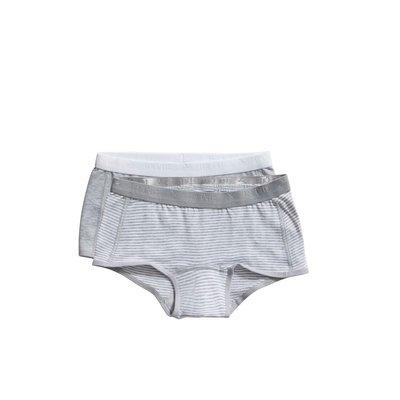 Ten Cate Girls Basic Shorts 2-Pack Grey Stripe 31120 | 20919