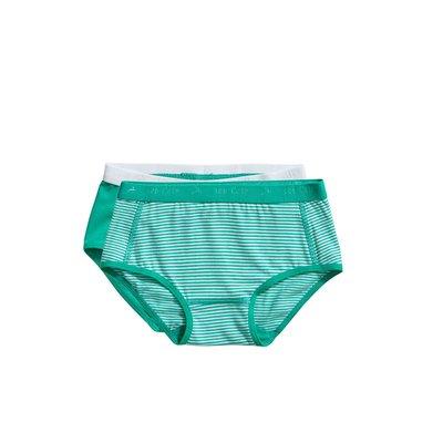 Ten Cate Girls Basic Brief 2-Pack Mint Stripe 31119 | 20913