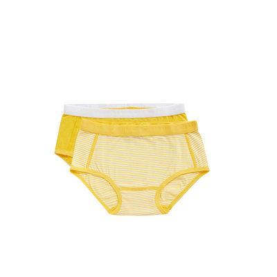 Ten Cate Girls Basic Brief 2-Pack Yellow Stripe 31119 | 20914