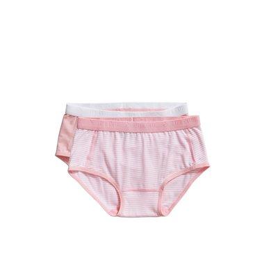 Ten Cate Girls Basic Brief 2-Pack Pink Stripe 31119 | 20915