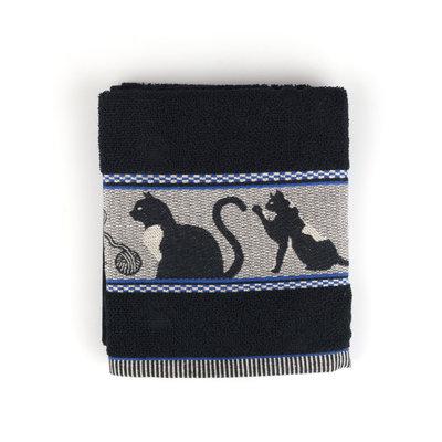 Bunzlau Castle Keukendoek Cats Black  6051 | 21753