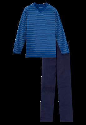 Schiesser Heren Pyjama Koningsblauw 168812 | 21907