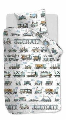 Beddinghouse Kids Dekbedovertrek Letter Car Blauw 21727