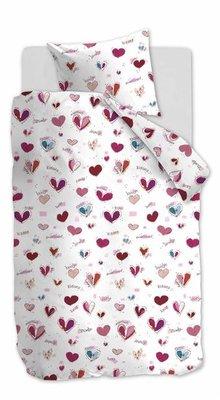 Beddinghouse Kids Dekbedovertrek Sweet Love Pink 21674