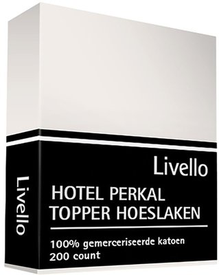 Hotel Collection Perkal Katoen Topper Hoeslaken Ivoor HCTHL IV | 469-7781