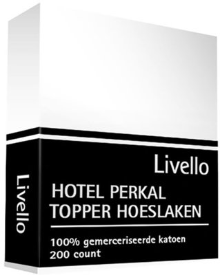 Hotel Collection Perkal Katoen Topper Hoeslaken Wit HCTHL WI | 468-21814-15