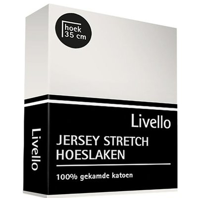 Livello Jersey Stretch Hoeslaken Offwhite 9980