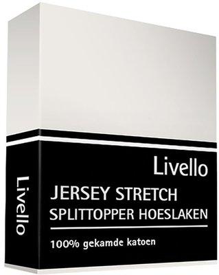 Livello Jersey Stretch Splittopper Hoeslaken Offwhite HLJ 155 SPLIT OFW   11899