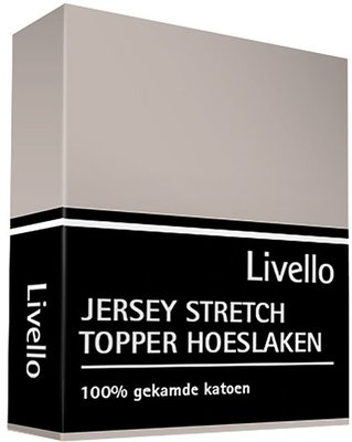 Livello Jersey Stretch Topper Hoeslaken Stone HLJ 155 TOP STO | 14474