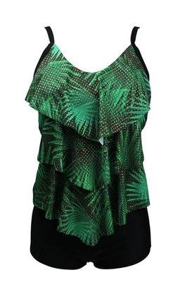 Mila Dames Tankini Green-Black 23A-31219H   20672