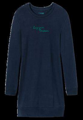 Schiesser Dames Nachthemd 804 Nachtblauw 167693   21167