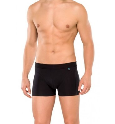 Schiesser Men Long Life Cotton Short Black 145136 | 12297