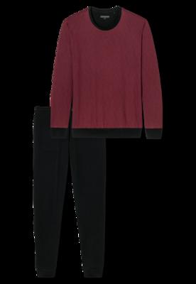 Schiesser Pyjama Zwart/Bordeaux 168245 | 21230
