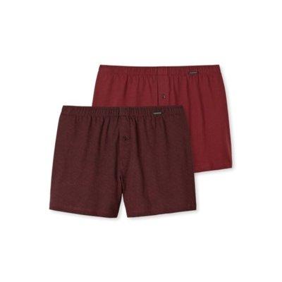 Schiesser Shorts 2-Pack Bordeaux 154789 | 15732