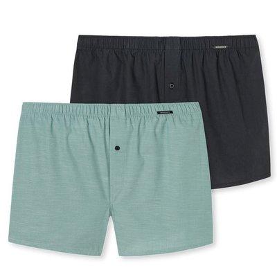 Schiesser Shorts 2-Pack Groen/Zwart 161549 | 18867