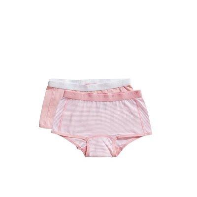 Ten Cate Girls Basic Shorts 2-Pack Pink Stripe 31120 | 20922