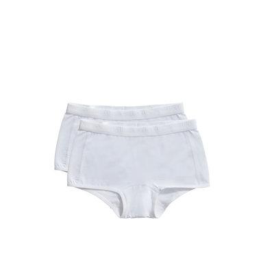 Ten Cate Girls Basic Shorts 2-Pack White 31120 | 20918