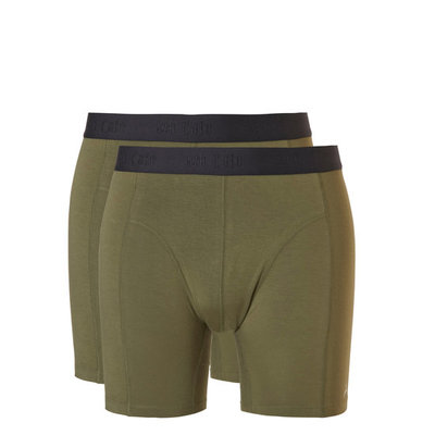 Ten Cate Men Basic Bamboo Long Shorts Burnt Olive 30863 | 21551