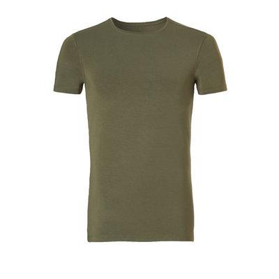 Ten Cate Men Basic Bamboo T-Shirt Burnt Olive 30860 | 21171