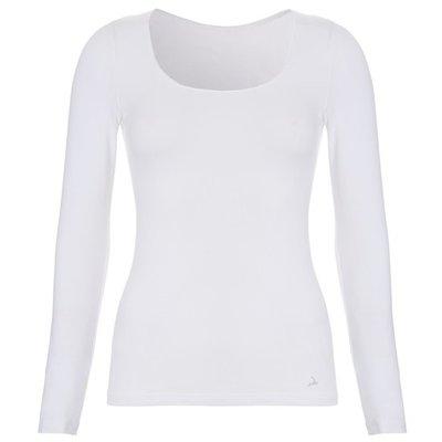 Ten Cate Women Basic Shirt Long Sleeves Wit 30200   17463