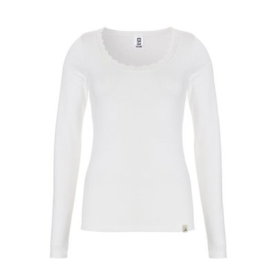 Ten Cate Women Thermo Lace Long Sleeve Snow White 30238   18220