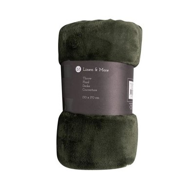 Linen&More Plaid Army Green 21708