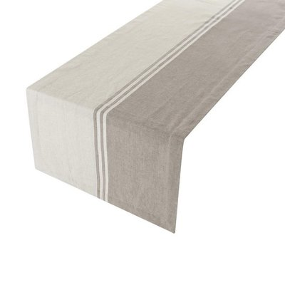 Linen&More Tafelloper Middle Stripes Grey 20607