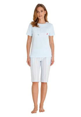 Hajo Klima Komfort Pyjama Lichtblauw 45219   22159