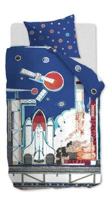 Beddinghouse Kids Dekbedovertrek Rocket Ship Blue 22278