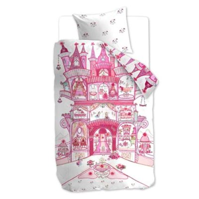 Beddinghouse Kids Dekbedovertrek Fairy Palace Pink 16982