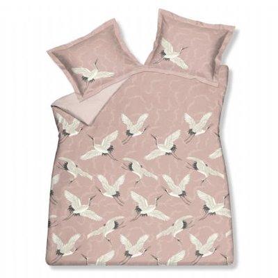Vandyck Dekbedovertrek Flying Cranes SATIJN Sepia pink 18793